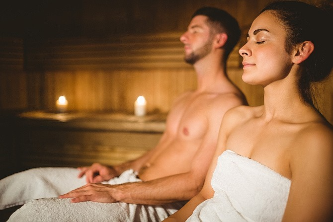sauna saunování